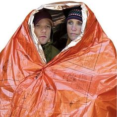 An emergency blanket built for two in case you need to huddle together for actual warmth.