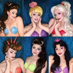 Ariel's Sisters by Richard Schaefer Little Mermaid Makeup, The Little Mermaid Musical, Little Mermaid Play, Little Mermaid Costumes, Mermaid Costume Makeup, Mermaid Cosplay, Ariel Makeup, Disney Makeup, Halloween Cosplay