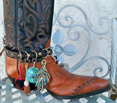 Boot Bracelet  Free people Style  Jewelry Charm Anklet  Boho Chic Festival Wear Boot Cuff Leather belt  Boots accessory