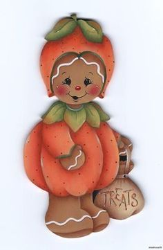 painted gingerbread ornaments - Google Search