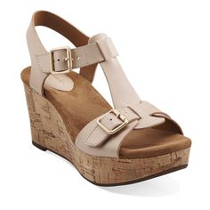 Caslynn Paula wedge sandals in Nude Leather - Women's Sandals from Clarks...almost bought these today