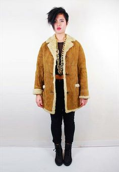 Draped sheepskin coat | Recycled fashion | Pinterest | Sheepskin ...