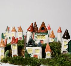 Wee Porcelain House - Lake Mohawk Cottage. $17.00, via Etsy.