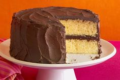 Yellow cake with chocolate fudge frosting - Annabelle Breakey/Photodisc/Getty Images