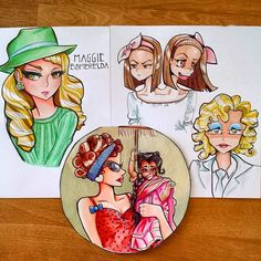 AHS Freakshow Cast ~ colored pencil and ink drawings, cartoon / anime Edward Mordrake, Me Anime, American Horror Story, Caricature, Amazing Art, Doodles, Princess Zelda, The Incredibles, Cartoon