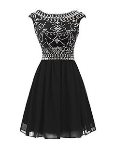 Sisjuly Women's Short Beaded Chiffon Rhinestones Cap Sleeve Cocktail Dress Size 2 Black Sisjuly http://www.amazon.com/dp/B017LN4SMY/ref=cm_sw_r_pi_dp_sSSSwb18EP772