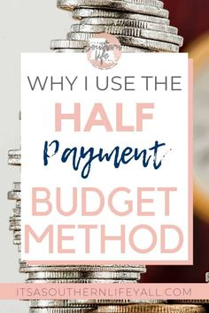 The Half Payment Budget Method is the easiest way to end the paycheck to paycheck cycle. If you want to take control of your finances, this will guide you through the steps of this simple budgeting method. Living On A Budget, Family Budget, Frugal Living, Planning Budget, Budget Planner, Bill Planner, Happy Planner, Budgeting Finances, Budgeting Tips