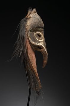 Ritual Mask  Keram or Pora Pora Rivers, Papua New Guinea  Wood, feathers, pigment  Early/mid 20th Century