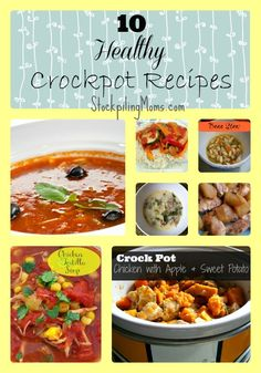 Here are 10 Healthy Crockpot Recipes to start your new year off eating well! We love all of these easy slow cooker recipes and hope you do too! Using the slow cooker is an easy Crock Pot Slow Cooker, Crock Pot Cooking, Slow Cooker Recipes, Cooking Recipes, Crock Pots, Delicious Crockpot Recipes, Healthy Recipes, Healthy Foods, Yummy Recipes