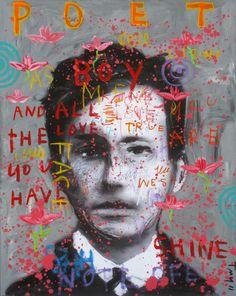 Troy-Henriksen-I-Poet-Boy-Acrylique-Et-Mixte-Sur-Toile-2011-Galerie-W-paris-blog-du-20-ph-hotel