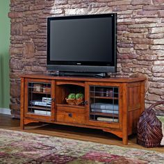How Pretty Is This Rose Valley Entertainment Credenza Mission Style Tv Stand