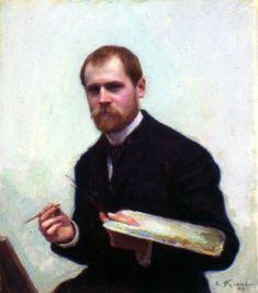 19thcenturyboyfriend: Self Portrait, Emile Friant