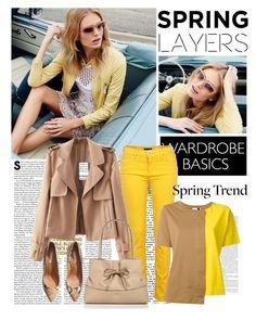 """Spring Jacket"" by deskaj ❤ liked on Polyvore featuring River Island, Marni, H&M, Kate Spade and wardrobebasics"