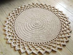 Crochet Rope Giant Doily Rug 100% Cotton 47 120 cm by KnitJoys