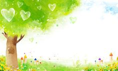 green,Hand Painted,Trees,Flowers,Blue Sky,Love,Heart-shaped,watercolor,Cartoon,Childlike Powerpoint Background Design, Background Templates, Background Patterns, Artsy Background, Watercolor Background, Background Images, Purple Butterfly Wallpaper, Christian Backgrounds, Blue Sky Clouds