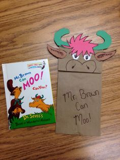 Mr. Brown Can Moo craft.  Dr. Seuss