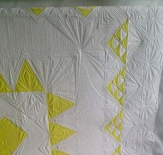 Use reference points of the quilt to create complex looking machine quilting designs without marking!