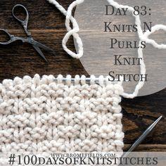 Knits N Purls Knit Stitch +PDF +VIDEO