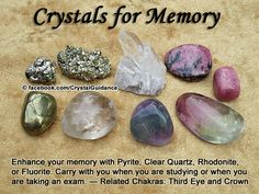 Crystal Guidance: Crystal Tips and Prescriptions - Memory