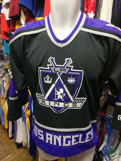 Vintage LOS ANGELES KINGS NHL CCM Jersey YL/YXL