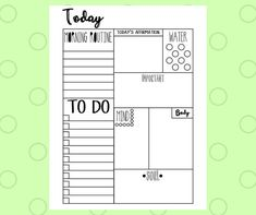 Add to your 2017 daily planner or use on its own! You have unlimited printing with this item so you can use it every day for the rest of forever! **This is a DIGITAL DOWNLOAD - Nothing will be physically shipped** INCLUDED: 1 PDF page- For print - letter size (8.5x11) *** IMPORTANT