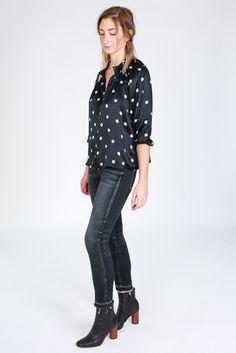 Classic blouse in belle de jour