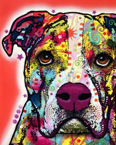 Dean Russo American Bulldog Print (this is exactly what my Daisy looks like)