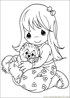 Hawaiian girl - precious moments coloring pages | Coloring Pages ...