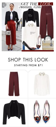 """""""Get The Look-  Jessica Alba"""" by kusja ❤ liked on Polyvore featuring Marni, DKNY, Phase Eight, Christian Dior, GetTheLook, PFW, fashionWeek, celebstyle and jessicaalba"""