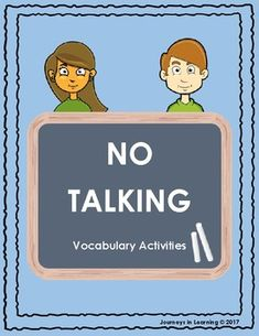 "No Talking is an Andrew Clements novel about a boy and a girl in 5th grade named Dave and Lynsey. They agree to have a boys-against-girls challenge to keep silent for two days.Resources included are: -3 acrostic poem templates (Unshushables, Dave, Lynsey)-2 vocabulary by chapter sheets-4 word searches (answers included)-4 vocabulary matches (answers included)-1 word make sheet with the words ""No Talking"""