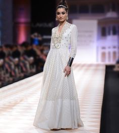 Cream Jacquard Gown
