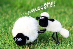 pom-pom shaun the sheep - How to make