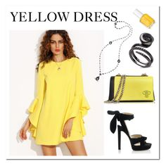 """""""yellow Dress"""" by sukia ❤ liked on Polyvore featuring Emilio Pucci, Jimmy Choo and Essie"""