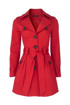 Red Trench Coat.This is officially my new obsession.Its got to take 1 year from now to be in my closet.Amen.