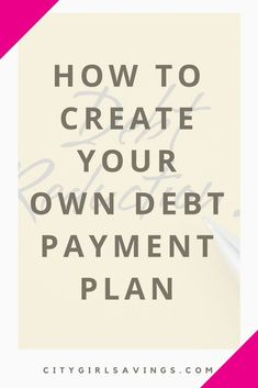 If you want to knock your debt out on your own terms, the CGS Team can help! We're sharing how to create your own diy debt reduction plan. Ways To Save Money, Money Tips, Money Saving Tips, Financial Peace, Financial Tips, Debt Snowball, Improve Your Credit Score, Frugal Tips, Budgeting Tips