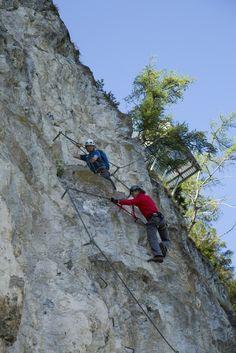 Steinwand Klettersteig Arzl