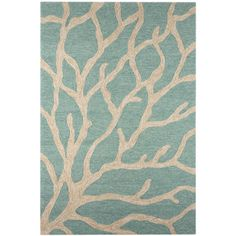 RugStudio presents Jaipur Rugs Coastal I-O Coral CI13 Frosty Green... ❤ liked on Polyvore featuring home, rugs, coastal style rugs, outdoor area rugs, coastal area rugs, green outdoor rug and indoor outdoor rugs