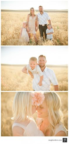 Beautiful family photos in a field. Family Posing, Family Portraits, Posing Families, Spring Family Pictures, Family Field Pictures, Family Pics, Cute Photography, Children Photography, Family Photo Outfits