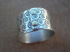 stamped and riveted 1/2 band by stellaurban on Etsy