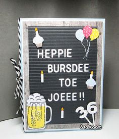 Abraham And Sarah, Birthday Breakfast, Marianne Design, Lettering Design, Letter Board, Stampin Up, Diy And Crafts, Have Fun, Blog