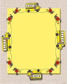 school theme border clipart | Printable border paper for kids Mike ...