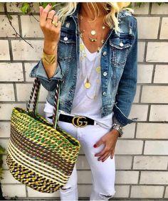 Trendy fashion jewelery for ladies: Ladies summer outfit, summer outfit, summer style, ladies outfit Look Fashion, Trendy Fashion, Womens Fashion, Summer Outfits Women, Spring Outfits, Outfit Summer, Mode Cool, Chic Outfits, Fashion Outfits