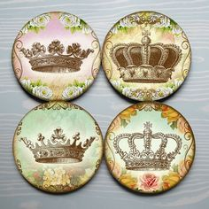 Queen for a Day  Shabby Paris Style Crown Mousepad by Polkadotdog, $11.00