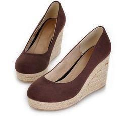 Women's wedge comfortable cheap foam sole shoes Z-BGE6608 brown