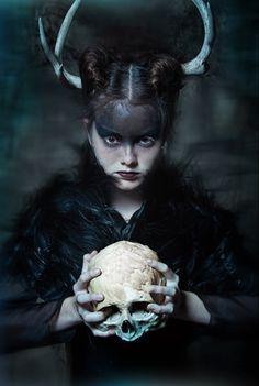 The Darkest Night by Alejandro Salinas #dark #fashion #editorial #skull