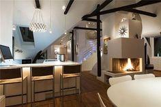 dark loft apartment | loft apartment ideas in scandinavian style