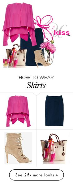 """capelet top w/pencil skirt"" by rvazquez on Polyvore featuring Boden, LSA International, Joie and Antonio Berardi"