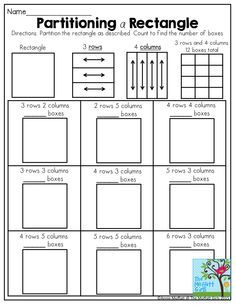 Free resource: Arrays Worksheet! Students look at an array