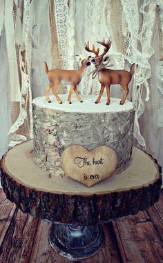 deerhunterbridegroomweddingcake by MorganTheCreator on Etsy