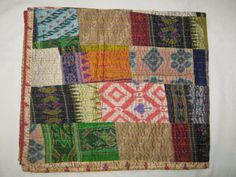 Hey, I found this really awesome Etsy listing at https://www.etsy.com/listing/192524756/indian-quilt-vintage-quilt-old-patola